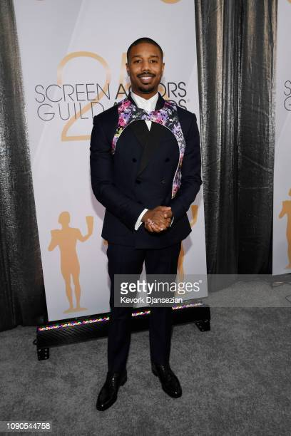 Michael B Jordan attends the 25th Annual Screen Actors Guild Awards at The Shrine Auditorium on January 27 2019 in Los Angeles California