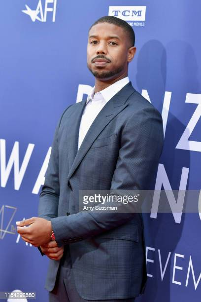 Michael B Jordan attends the 47th AFI Life Achievement Award honoring Denzel Washington at Dolby Theatre on June 06 2019 in Hollywood California...