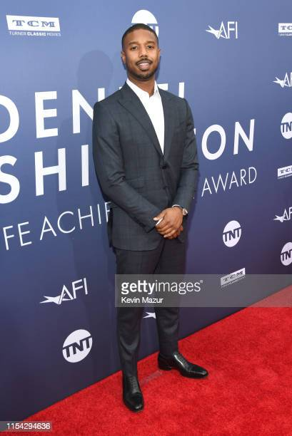 Michael B. Jordan attends the 47th AFI Life Achievement Award Honoring Denzel Washington at Dolby Theatre on June 06, 2019 in Hollywood, California....