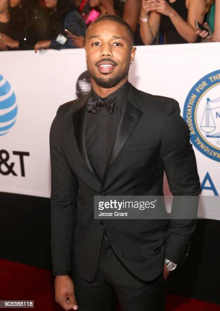Michael B Jordan attends the 49th NAACP Image Awards at Pasadena Civic Auditorium on January 15 2018 in Pasadena California