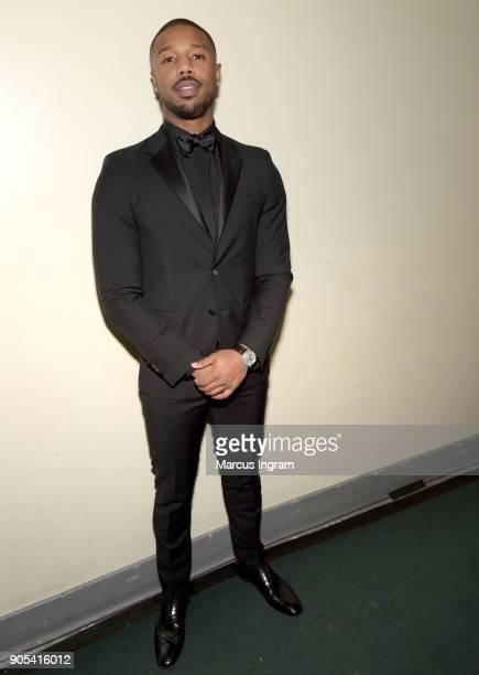 Michael B Jordan attends the 49th NAACP Image Awards at Pasadena Civic Auditorium on January 15 2018 in Pasadena California