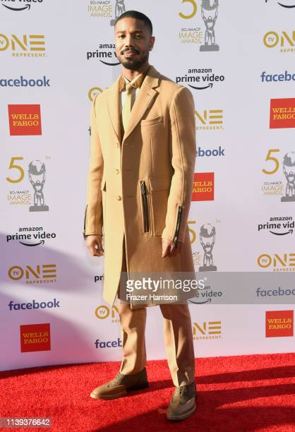 Michael B Jordan attends the 50th NAACP Image Awards at Dolby Theatre on March 30 2019 in Hollywood California