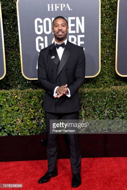 Michael B Jordan attends the 76th Annual Golden Globe Awards at The Beverly Hilton Hotel on January 6 2019 in Beverly Hills California