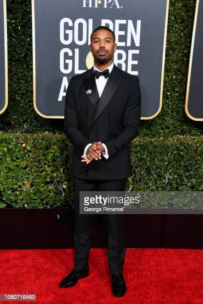 Michael B Jordan attends the 76th Annual Golden Globe Awards held at The Beverly Hilton Hotel on January 06 2019 in Beverly Hills California