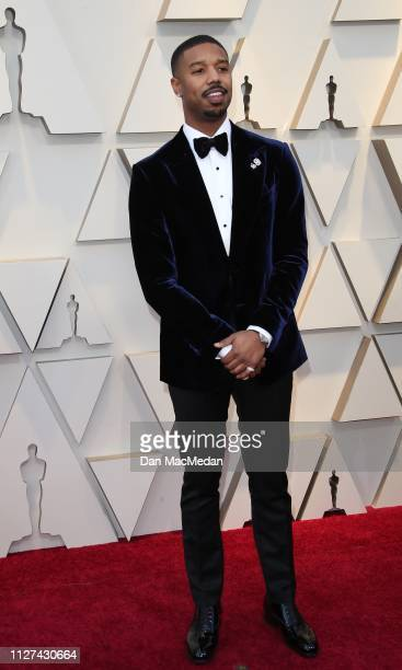 Michael B Jordan attends the 91st Annual Academy Awards at Hollywood and Highland on February 24 2019 in Hollywood California