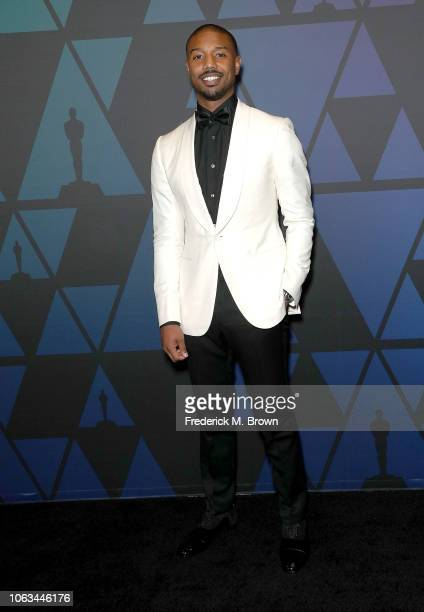 Michael B Jordan attends the Academy of Motion Picture Arts and Sciences' 10th Annual Governors Awards at The Ray Dolby Ballroom at Hollywood...
