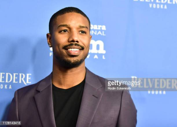 Michael B Jordan attends the Cinema Vanguard Award Honoring Michael B Jordan during the 34th Annual Santa Barbara International Film Festival at...