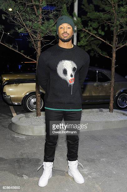 Michael B Jordan attends the Coach 75th Anniversary Women's PreFall and Men's Fall Show Front Row on December 8 2016 in New York City