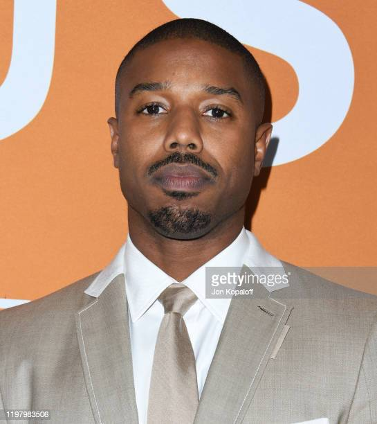 Michael B Jordan attends the LA Community Screening Of Warner Bros Pictures' Just Mercy at Cinemark Baldwin Hills on January 06 2020 in Los Angeles...