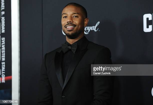 Michael B Jordan attends the 'Creed II' New York Premiere at AMC Loews Lincoln Square on November 14 2018 in New York City