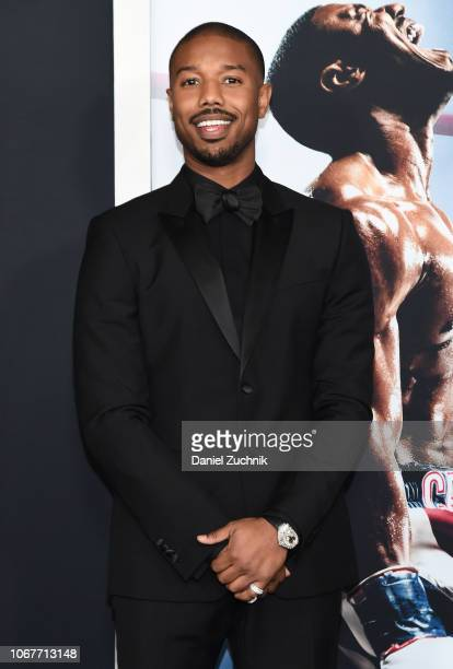 Michael B. Jordan attends the 'Creed II' New York Premiere at AMC Loews Lincoln Square on November 14, 2018 in New York City.