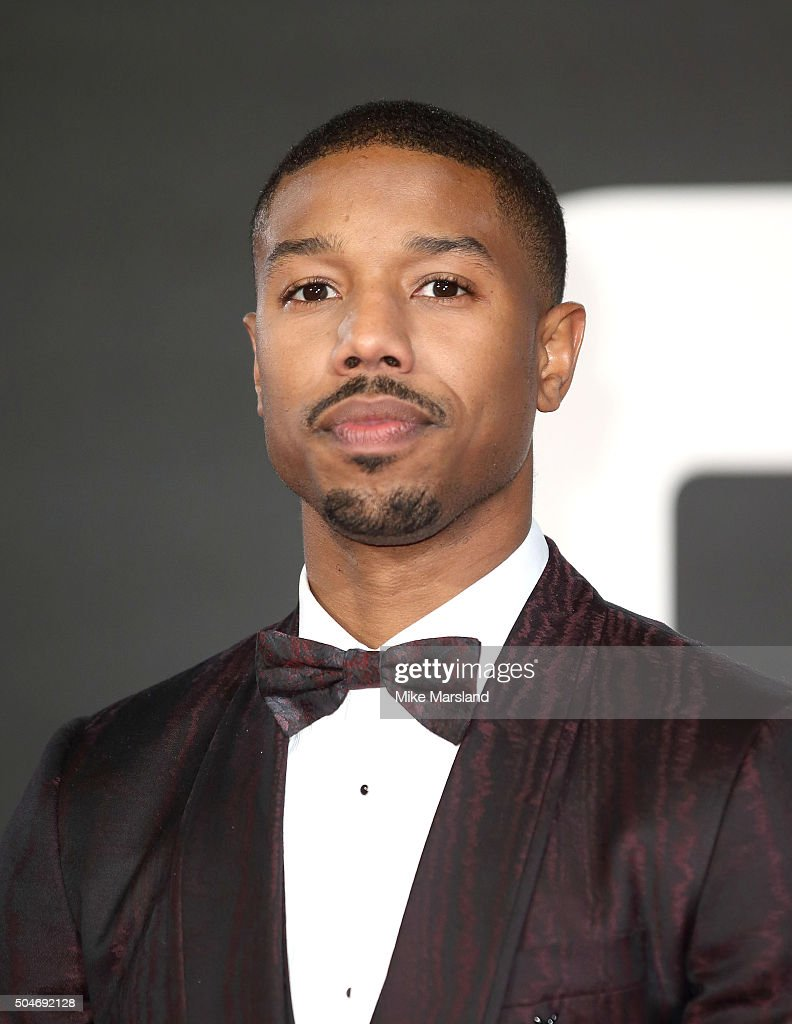 Michael B. Jordan attends the European Premiere of 'Creed' on January 12, 2016 in London, England.