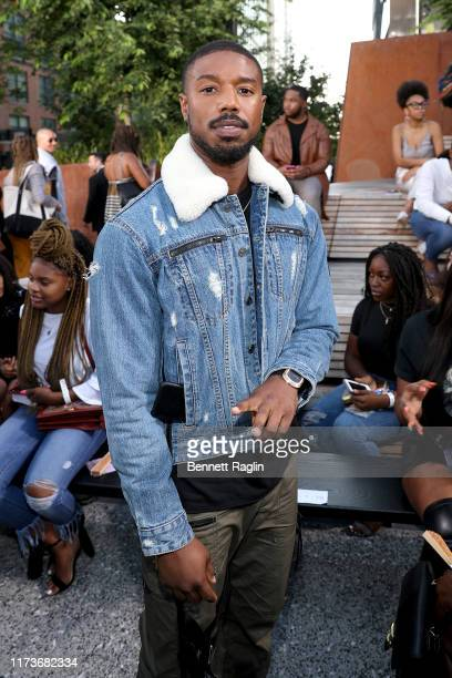 Michael B Jordan attends the front row for Coach 1941 during New York Fashion Week on September 10 2019 in New York City
