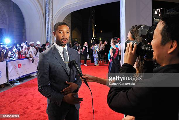 Michael B Jordan attends the 'Fruitvale Station' premiere during day four of the 10th Annual Dubai International Film Festival held at the Madinat...