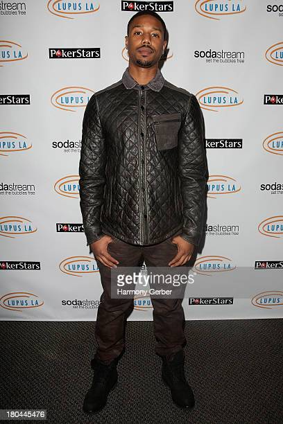 Michael B Jordan attends the Get Lucky For Lupus LA event at Peterson Automotive Museum on September 12 2013 in Los Angeles California