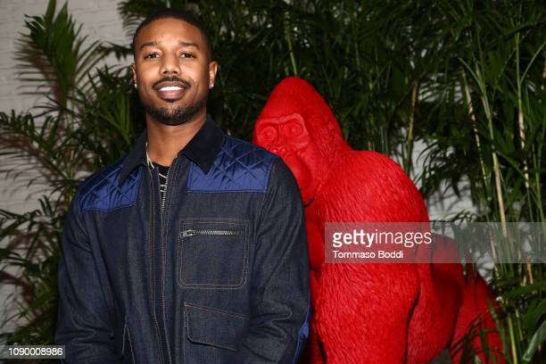 Michael B Jordan attends the Giorgio Armani Beauty at Best Performances held at Chateau Marmont on January 04 2019 in Los Angeles California