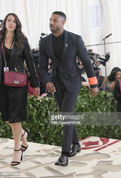 Michael B Jordan attends the Heavenly Bodies Fashion The Catholic Imagination Costume Institute Gala at The Metropolitan Museum of Art on May 7 2018...