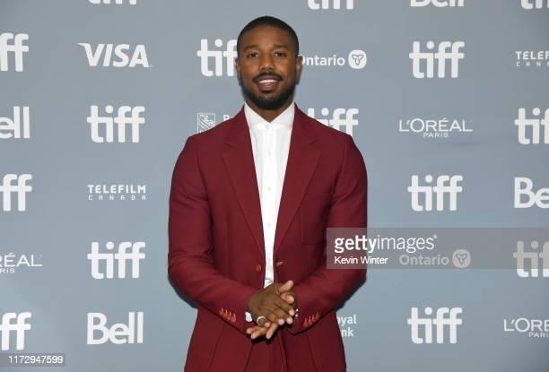 Michael B Jordan attends the Just Mercy press conference during the 2019 Toronto International Film Festival at TIFF Bell Lightbox on September 07...