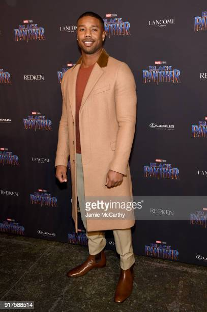 Michael B Jordan attends the Marvel Studios Black Panther Welcome to Wakanda New York Fashion Week Showcase at Industria Studios on February 12 2018...