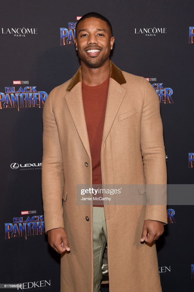 Michael B. Jordan attends the Marvel Studios Black Panther Welcome to Wakanda New York Fashion Week Showcase at Industria Studios on February 12, 2018 in New York City.