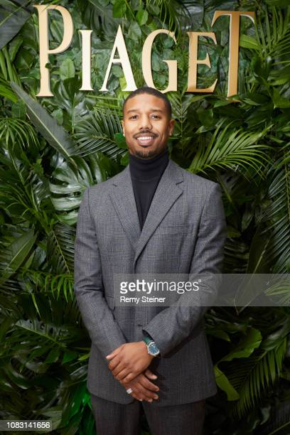 Michael B Jordan attends the #PiagetSociety dinner at Piaget headquarters during #SIHH2019 on January 14 2019 in Geneva Switzerland