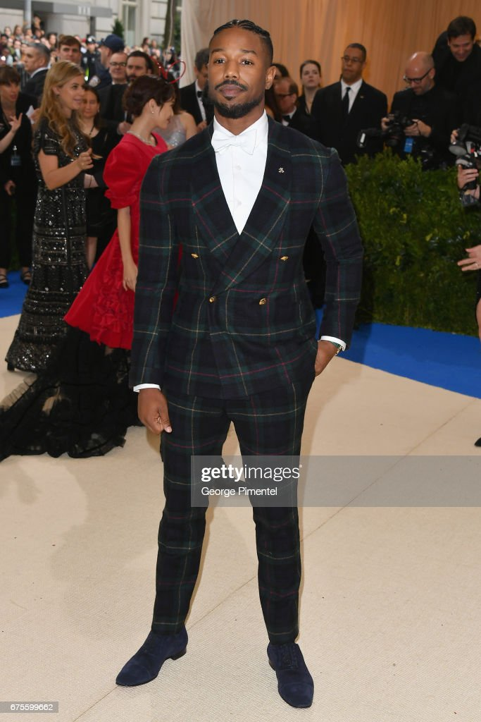 Michael B. Jordan attends the 'Rei Kawakubo/Comme des Garcons: Art Of The In-Between' Costume Institute Gala at Metropolitan Museum of Art on May 1, 2017 in New York City.