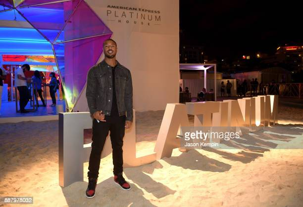Michael B Jordan celebrates Miami Art Week at the American Express Platinum House at The Miami Beach EDITION on December 7 2017 in Miami Beach Florida