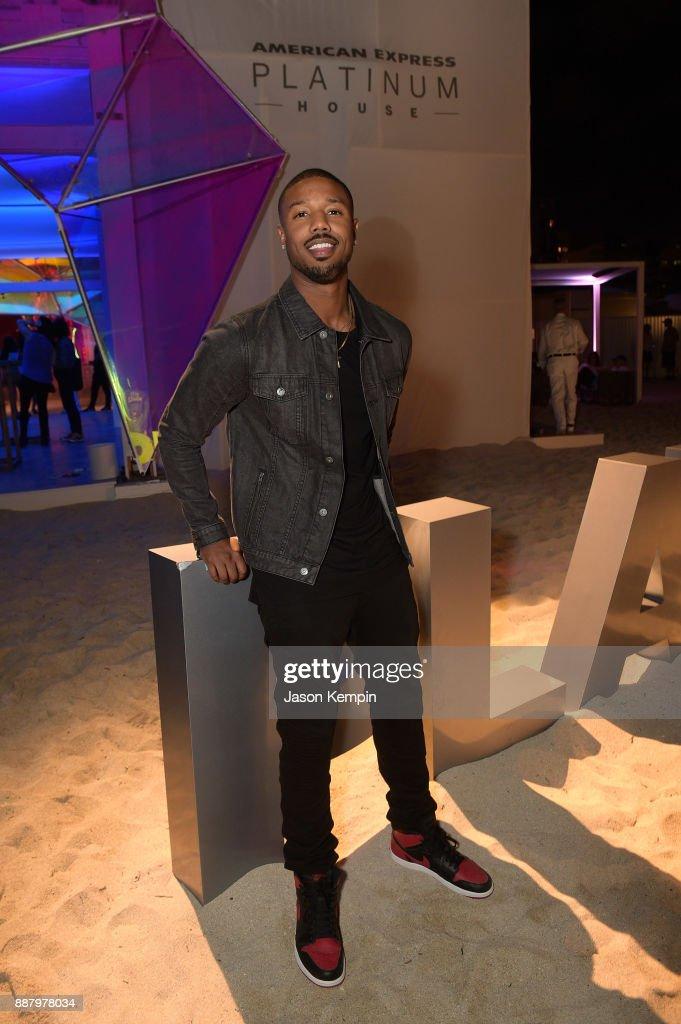 Michael B. Jordan celebrates Miami Art Week at the American Express Platinum House at The Miami Beach EDITION on December 7, 2017 in Miami Beach, Florida.