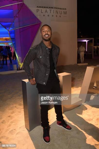 Michael B Jordan celebrates Miami Art Week at the American Express Platinum House at The Miami Beach EDITION on December 7 2017 in Miami Beach Florida