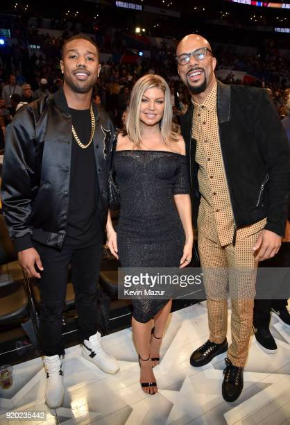 Michael B Jordan Fergie and Common attend the 67th NBA AllStar Game Team LeBron Vs Team Stephen at Staples Center on February 18 2018 in Los Angeles...