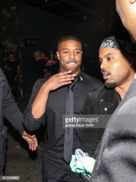 Michael B Jordan is seen on January 30 2018 in Los Angeles California
