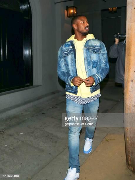 Michael B Jordan is seen on November 07 2017 in Los Angeles California