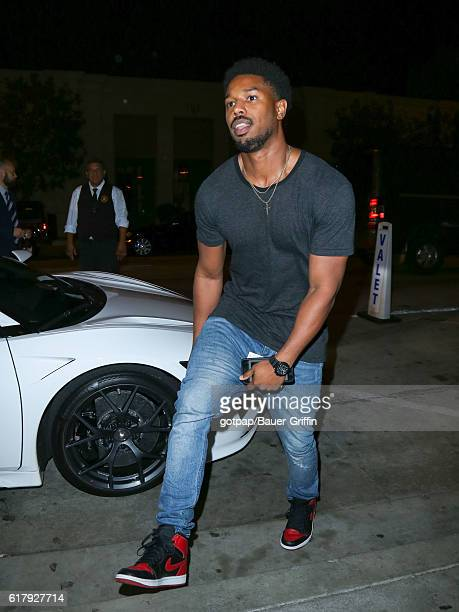 Michael B Jordan is seen on October 24 2016 in Los Angeles California