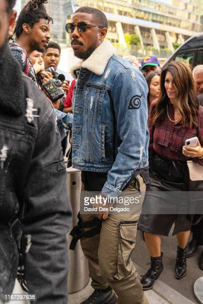 Michael B Jordan is seen outside Coach 1941 during New York Fashion Week at The Spur and Coach Passage The High Line on September 10 2019 in New York...