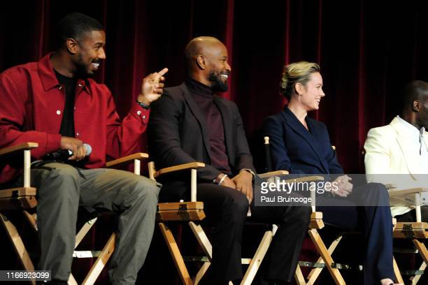 Michael B Jordan Jamie Foxx and Brie Larson attend Warner Bros Hosts A Special Screening Of Just Mercy at DGA Theater on September 8 2019 in New York...