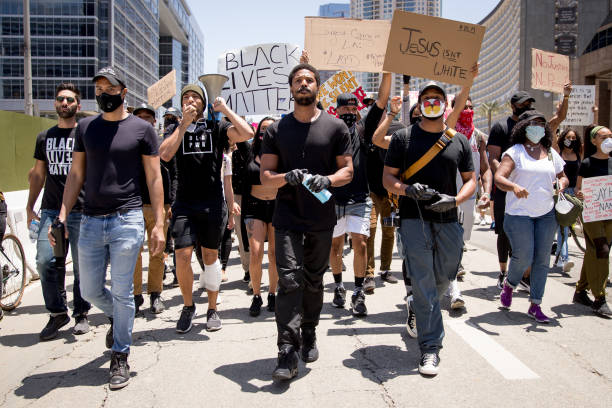 CA: Hollywood Talent Agencies March To Support Black Lives Matter Protests