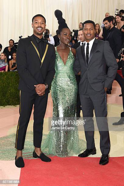 Michael B Jordan Lupita Nyong'o and Nate Parker attend the 'Manus x Machina Fashion In An Age Of Technology' Costume Institute Gala at Metropolitan...