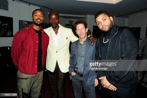 Michael B Jordan Rob Morgan Tim Blake Nelson and O'Shea Jackson attend Warner Bros Hosts A Special Screening Of Just Mercy at DGA Theater on...