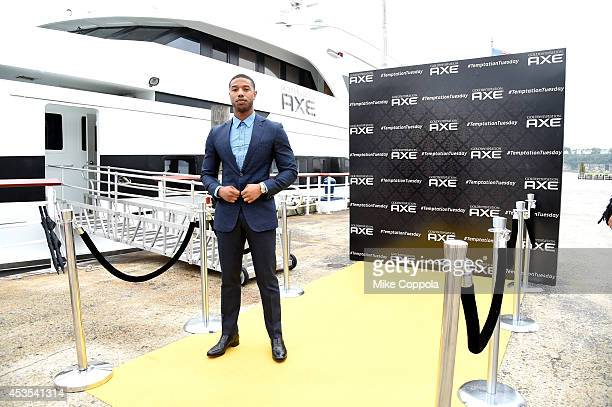 Michael B Jordan sets sail to celebrate new AXE Gold Temptation at Pier 81 on August 12 2014 in New York City