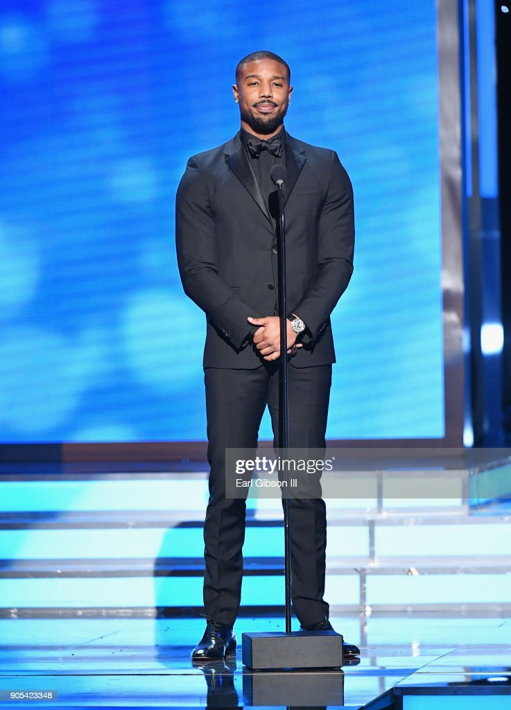 Michael B. Jordan speaks onstage at the 49th NAACP Image Awards on January 15, 2018 in Pasadena, California.