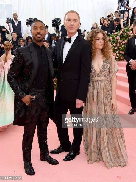 Michael B Jordan Stuart Vevers and Maggie Rogers attend The 2019 Met Gala Celebrating Camp Notes on Fashion at Metropolitan Museum of Art on May 06...