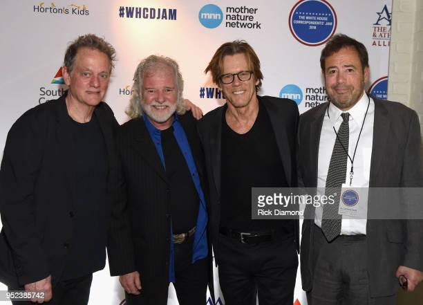 Michael Bacon of Bacon Brothers Band Host/Rolling Stones Keyboardist Chuck Leavell Kevin Bacon of Bacon Brothers Band and Joel Babbit CEO Mother...