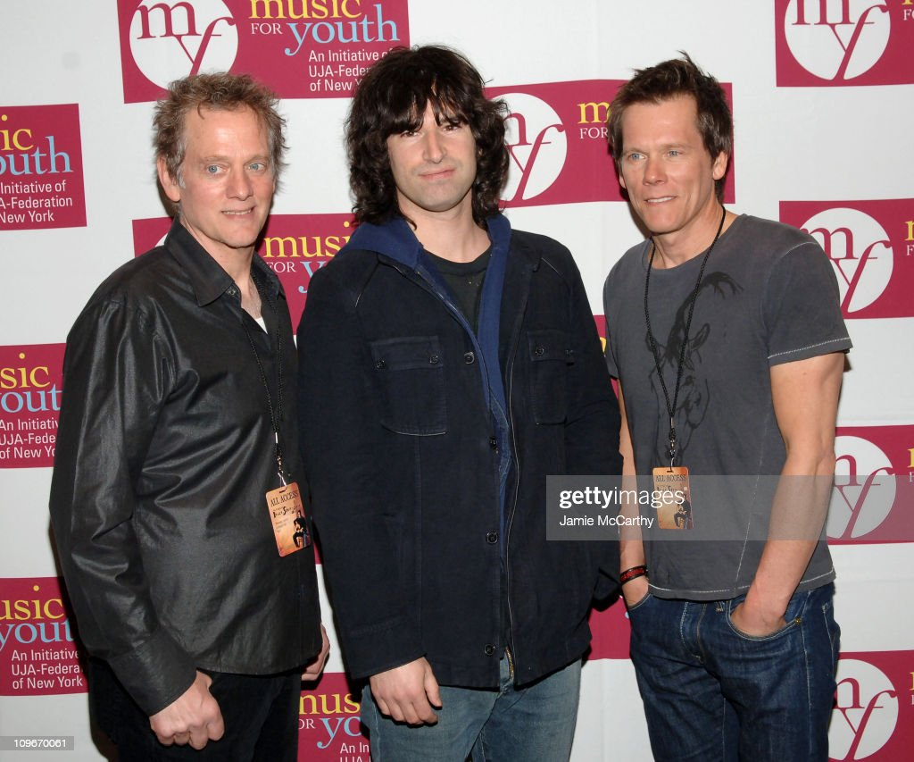 Michael Bacon, Pete Yorn and Kevin Bacon during Music for Youth Benefit Concert 'Celebrating the Music of Bruce Springsteen' for the UJA-Federation of NY Initiative Program at Carnegie Hall in New York City, New York, United States.