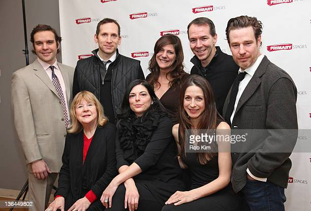 Michael Bakkensen Stephen Kunken Elizabeth Rich Paul Niebanck and Ethan McSweeny Marylouise Burke Kate Fodor and Marin Hinkle attend the 'Rx' cast...