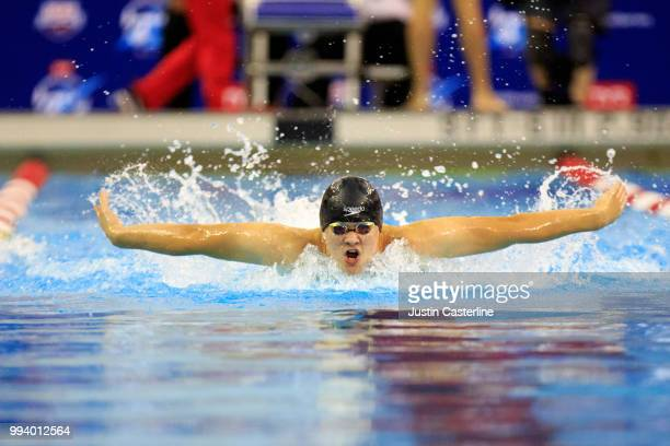 Michael Balcerak competes in the men's 200m butterfly prelims at the 2018 TYR Pro Series on July 8 2018 in Columbus Ohio