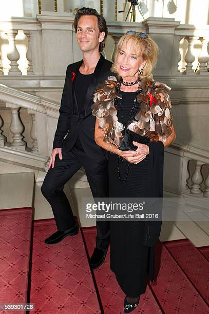 Michael Balgavy and Dagmar Koller attend the Red Ribbon Celebration Concert at Burgtheater on June 10 2016 in Vienna Austria The Red Ribbon...