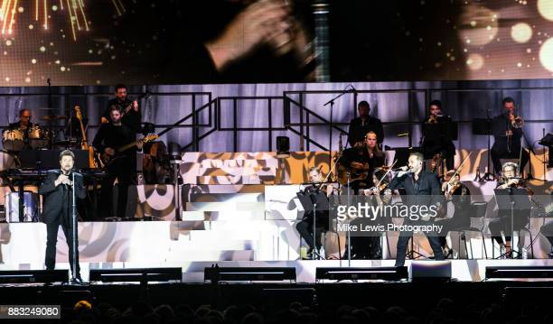 Michael Ball & Alfie Boe perform on stage at Motorpoint Arena on November 30, 2017 in Cardiff, Wales.