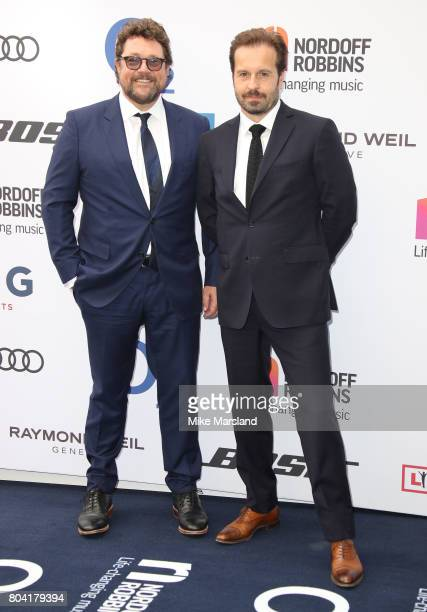Michael Ball and Alfie Boe attend Nordoff Robbins O2 Silver Clef awards at The Grosvenor House Hotel on June 30 2017 in London England