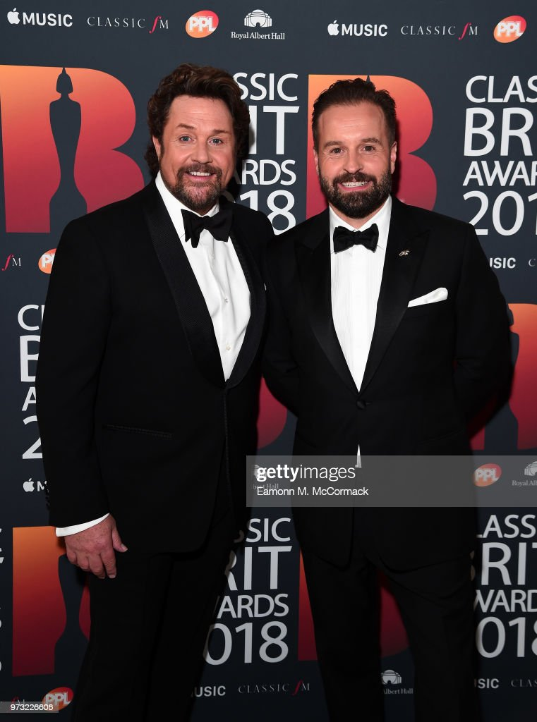 Michael Ball and Alfie Boe attend the 2018 Classic BRIT Awards held at Royal Albert Hall on June 13, 2018 in London, England.