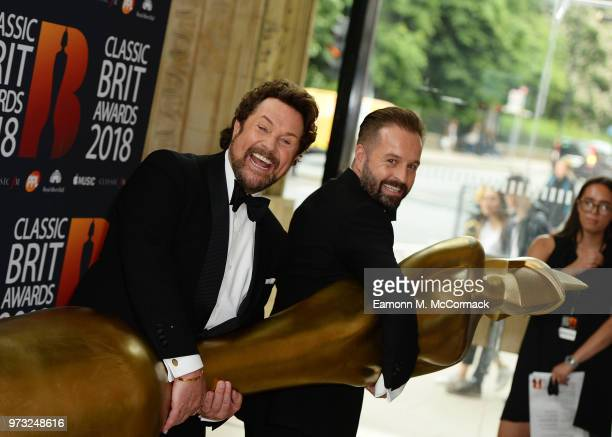 Michael Ball and Alfie Boe attend the 2018 Classic BRIT Awards held at Royal Albert Hall on June 13 2018 in London England